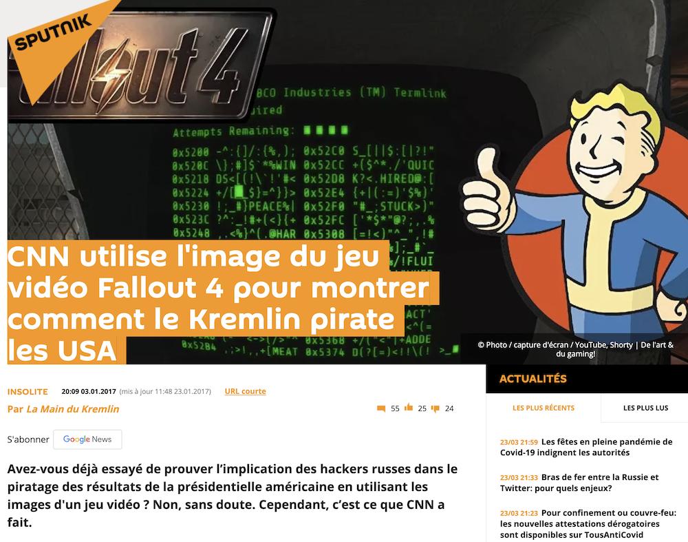 Article Sputnik sur Fallout